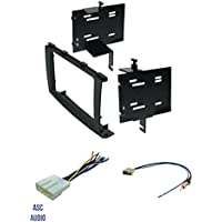 ASC Audio Car Stereo Radio Install Dash Kit, Wire Harness, and Antenna Adapter to Add a Double Din Aftermarket Radio for 2008 2009 2010 Nissan Rogue