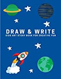 Draw and Write: Kids Art Story Book For Creative Fun, Deep Space Blue (Creative Writing for Kids)