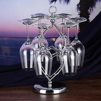 ... inoxidable de alto polo Porta vasos de vino champagne portavasos portavasos wineglass rack, piedras preciosas del árbol del portavasos: Amazon.es: Hogar