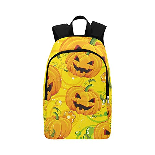 YSWPNA Halloween Pumpkin Texture Casual Daypack Travel Bag College School Backpack for Mens and Women