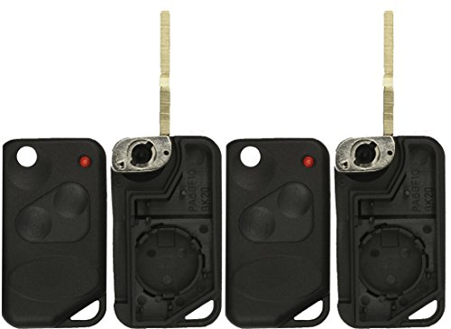 KeylessOption Just the Case Keyless Entry Remote Control Car Flip Key Fob Shell (Pack of 2) (Range Rover Remote Control compare prices)
