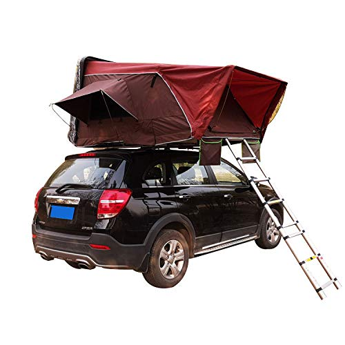 CARWORD Rooftop Tent Car Accommodating 2-3 People for Cars Trucks SUVs Camping Travel Mobile Car Sun Shelter Canopy Camper