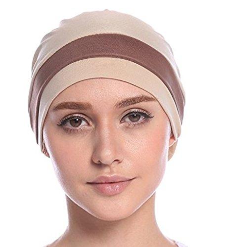 Turbantes para mujer,EINSKEY gorro bufanda,gorro dormir,estampado étnico pañuelo pre atado para protección del cabello, pérdida de cabello y pacientes con ...
