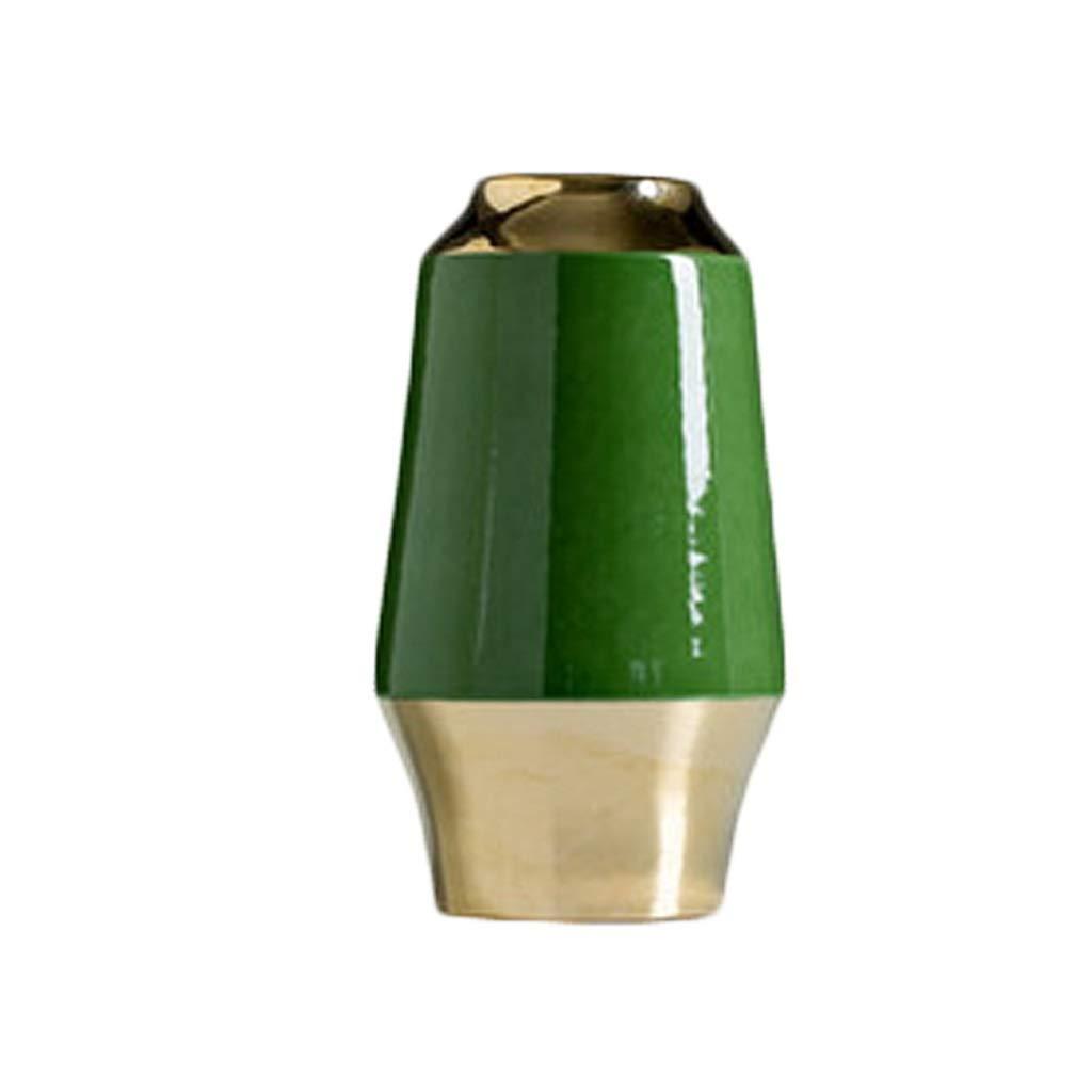 新しい中国風ゴールドエッジセラミック花瓶の装飾リビングルームフラワーアレンジメントシンプルなヨーロッパのテレビキャビネット装飾 LQX B07R3BFYN5