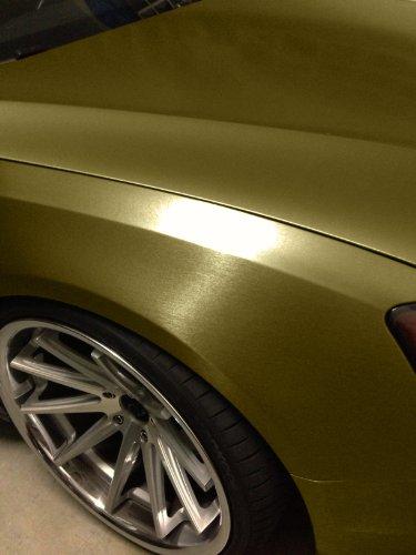 VViViD Gold Brushed Anodized Aluminum 5ft x 5ft 25sq ft Cast Vinyl Decal New Bubble-Free Car Wrap Interior