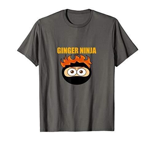 GINGER NINJA T-SHIRT Warrior Funny Ginga Red Hair -