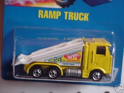 - Mattel Hot Wheels 1991 1:64 Scale Yellow Ramp Tow Truck Die Cast Car Collector #187