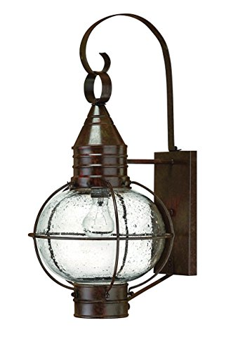 Hinkley 2204SZ Rustic One Light Wall Mount from Cape Cod collection in Bronze/Darkfinish,