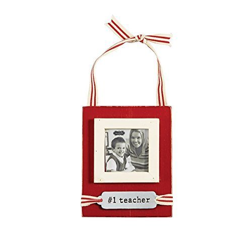 MUD PIE #1 TEACHER ORNAMENT FRAME HANGER