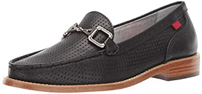 MARC JOSEPH NEW YORK Womens Leather Park Ave Buckle Loafer, Black Nappa 5 M US