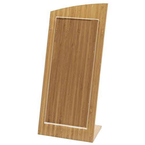 Business Card Holder Small Sign Holder Wooden - 6'' L x 4 1/4 W x 14'' H by Hubert