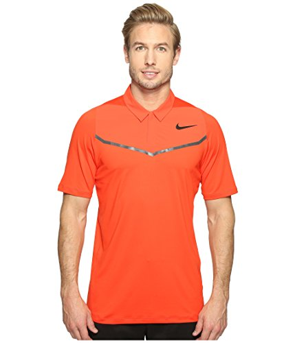 Nike Tiger Woods Pullover - Nike Golf Men's 2017 TW Velocity Max Blocked Polo, Max Orange/Anthracite/Black, Small