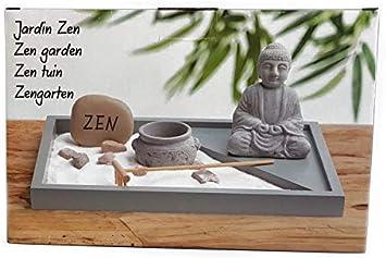 Spetebo Mini Zen Garten - Juego de Figuras Decorativas (6 Piezas), diseño de jardín japonés: Amazon.es: Juguetes y juegos
