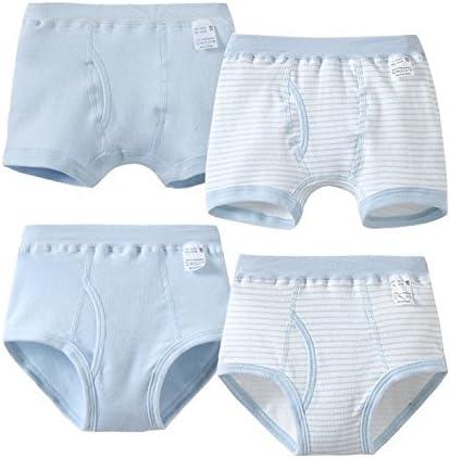 Los niños ropa interior de algodón 4 Piece/niños ropa interior ropa interior Calzoncillos Boxer algodón niño de cuatro cajas de color al azar (A): Amazon.es: Bebé
