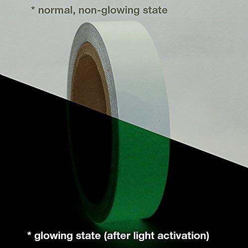 J.V. Converting GLW/LLGRN110 JVCC GLW Glow in the Dark Tape: 1 x 30 ft, Luminescent Lime green