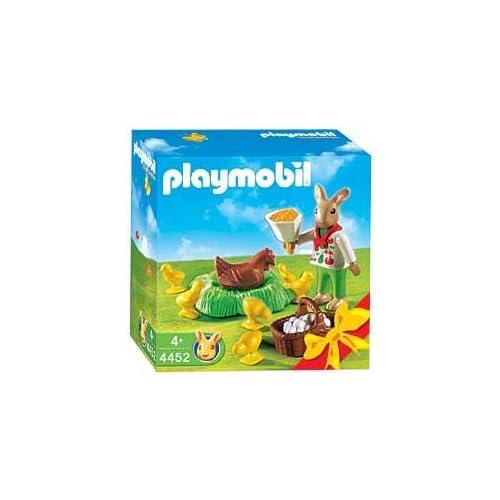 4452 - PLAYMOBIL - Conejitos y pollitos de Pascua con grey pollo