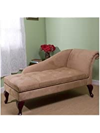 bedroom lounge chair. Chaise Chair Lounge Sofa with Storage for Living Room or Bedroom Beige Tan  Amazon com