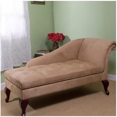 Chaise Chair Lounge Sofa with Storage for Living Room or Bedroom Beige Tan  sc 1 st  Amazon.com : sofa chaise lounge - Sectionals, Sofas & Couches