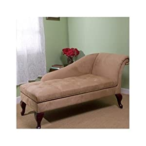 Chaise chair lounge sofa with storage for - Amazon bedroom chairs and stools ...