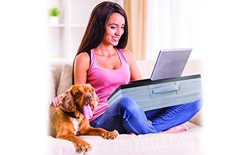 iCozy Portable Cushion Lap Desk With Storage - Zebra by iCozy (Image #8)