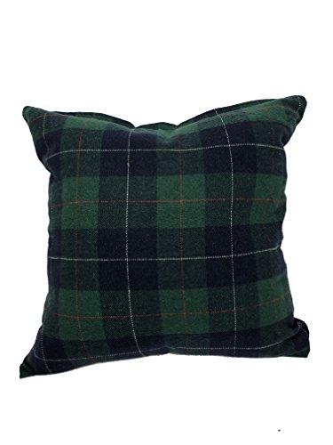 Urban Loft by Westex Tartan Green Feather Filled Decorative Throw Pillow Cushion 20