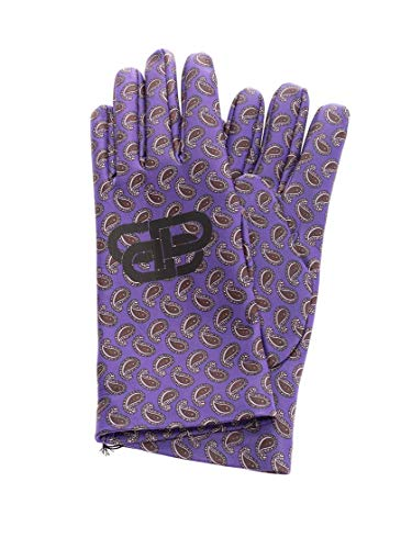 Luxury Fashion | Balenciaga Man 591977453B85200 Purple Leather Gloves | Fall Winter 19