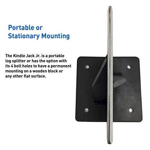 EasyGoProducts EGP-WSPL-001 Jack Jr-The Firewood Kindling Tool - Wood Log Splitter - Bl