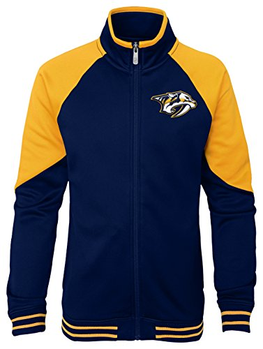 NHL Nashville Predators Youth Girls Faceoff Full Zip Jacket, Small(7-8), True ()