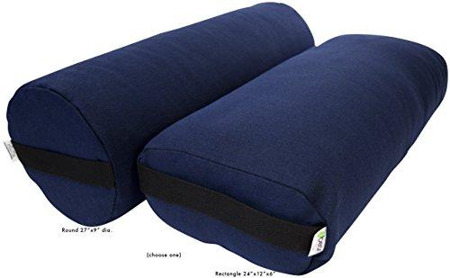 Jo Sha Yoga Mat - Bean Products Yoga Bolster - Hemp Rectangle - Blueberry