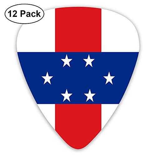 Netherlands Antilles Note (Yongchuang Feng Flag of The Netherlands Antilles Guitar Picks Bass Ukulele Mandolin Plectrum Musical Instruments 12-Pack Thickness 0.46/0.73/0.96 Mm)