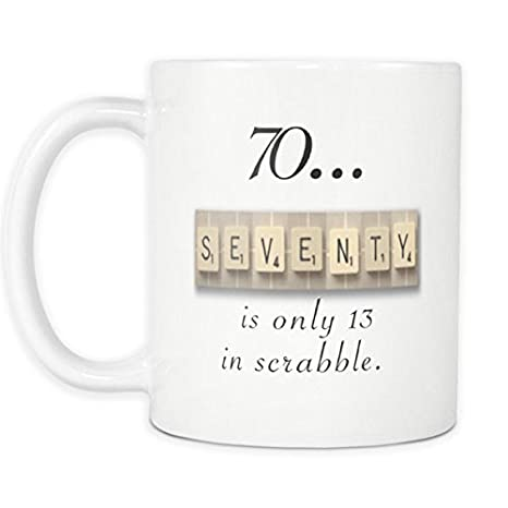 70th Birthday Mug Scrabble Gift 1948 70