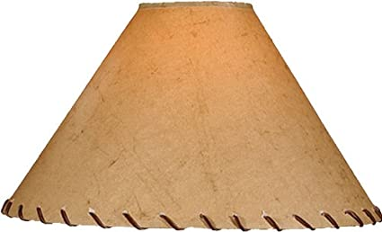 Parchment lamp shade w leather lace lampshades amazon parchment lamp shade w leather lace aloadofball Image collections