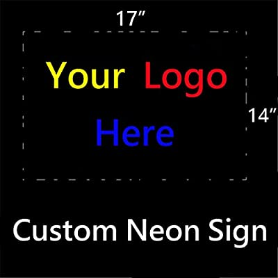 Personalized Custom Design Beer Neon Sign 17w x 14h, Handmade Glass Tube Neon Light Sign for Home Bar Pub Game Room and Recreation Decor Gifts