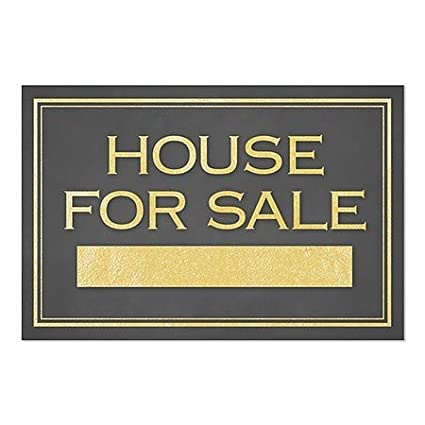 5-Pack 36x24 House for Sale Classic Gold Window Cling CGSignLab
