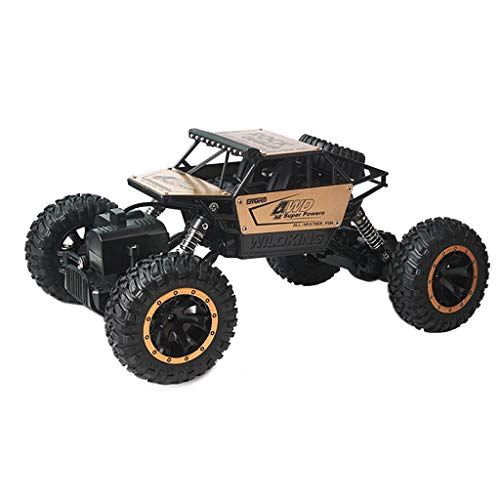 Littleice RC Car 1/16 Scale 2.4Ghz 4 Wheel Drive Rock Crawler Radio Remote Control RC Car 15Km/h Racing Car Toy Gift (Gold)