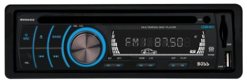 BOSS AUDIO BV6652 Single-DIN DVD Player Receiver, Detachable