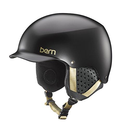 Bern Muse - Bern Muse Snow Helmet (Satin Black with Black Liner, Medium)