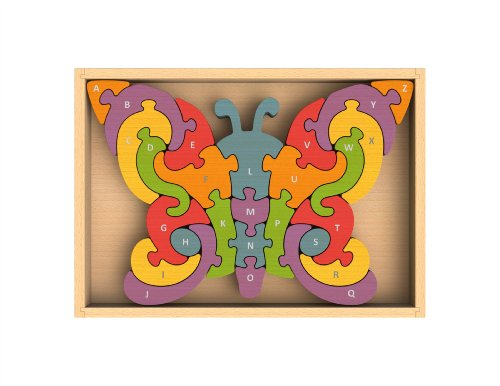 BeginAgain - Butterfly A to Z Puzzle, Make Learning Fun and