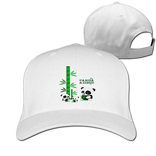 Odr KOPWIEA Men Panda Reported Bamboo Funny Football White Caps Adjustable - Jeff Banks Sunglasses