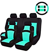 CAR PASS Rainbow Universal Fit Car Seat Cover -100% Breathable with 5mm Composite Sponge Inside,A...