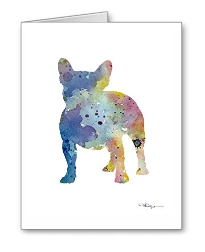 French Bulldog - Set of 10 Note Cards With Envelopes