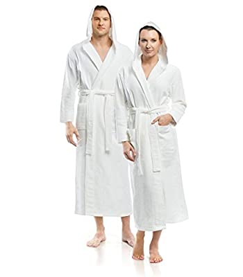 Plush Necessities Hooded Waffle Terry Robe
