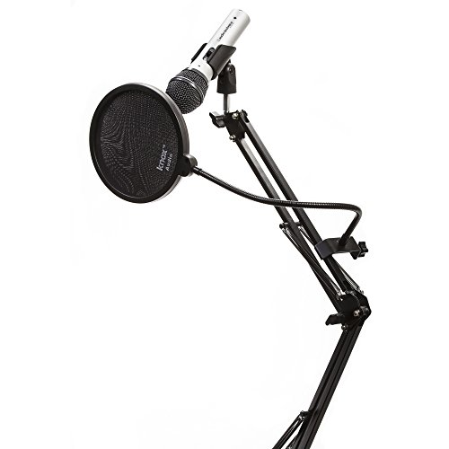 Audio Technica ATR2100-USB Cardioid Dynamic USB/XLR Microphone with Knox Studio Arm and Pop Filter