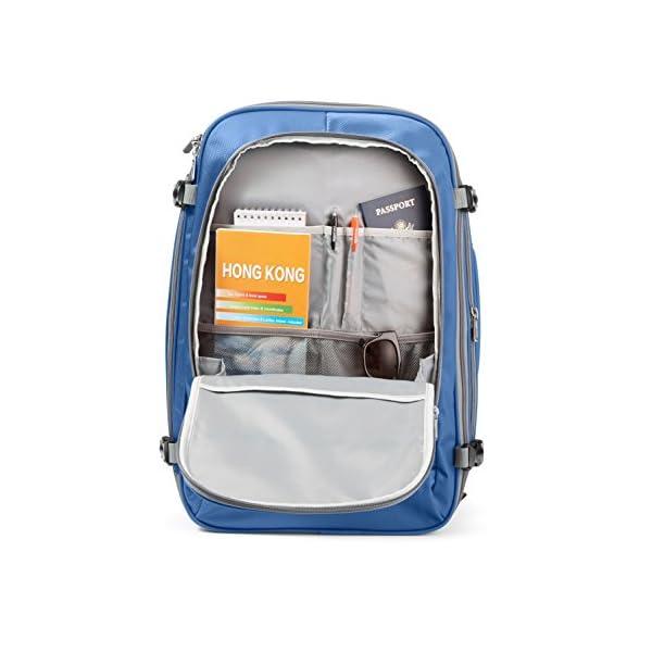 AmazonBasics - Zaino da viaggio/bagaglio a mano, Blu navy - 50L 7 spesavip