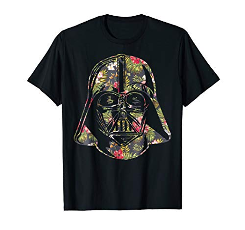 Bouquet Flower T-shirt - Darth Vader Floral Tropical Hawaiian Flower Bouquet T-Shirt