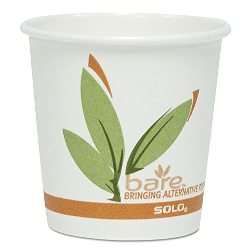 SOLO CUPS 378RC Bare Eco-Forward Recycled Content PCF Hot Cups, 8 oz, 1,000/Carton