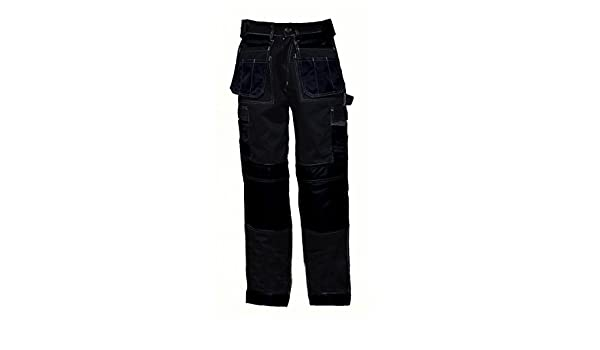 para combate resistentes al desgaste trabajo color negro constructores Pantalones cargo para hombres