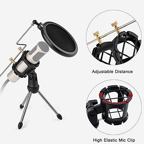 Universal Microphone Vibration Mount Bracket MIC Stand Compatible for AKG D230 senheisser me66 RODE ntg-2 high NTG-1 ATH at-875r