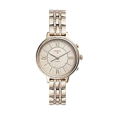 Fossil Women's Jacqueline Stainless Steel Hybrid Smartwatch, Color: Pink (Model: FTW5036) by Fossil Connected Watches Child Code