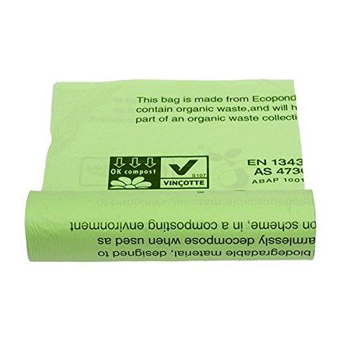 Janilec CM153 Kompostierbare Müllbeutel, 140 l Fassungsvermögen, Hellgrün (200 Stück)